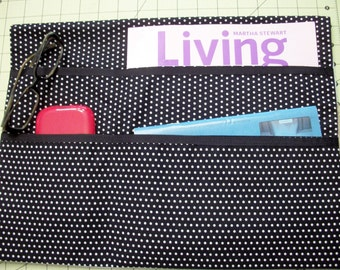 LAVENDER STREET COLLECTION--Black & White Mini Polka Dots