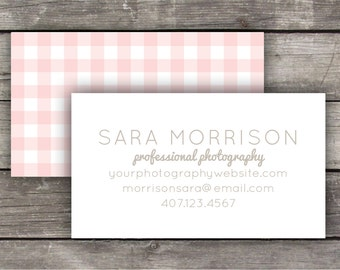 Printable Business Cards / Calling Cards - Gingham / Buffalo Check