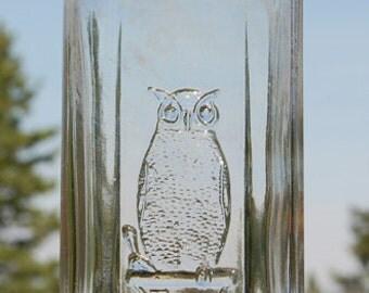 Large Square Antique old OWL DRUG Co bottle w/ embossed pic OWL, San Francisco