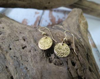 14k earrings, gold earrings, dangle earrings, gold dangle earrings, small gold earrings, small dangle earrings