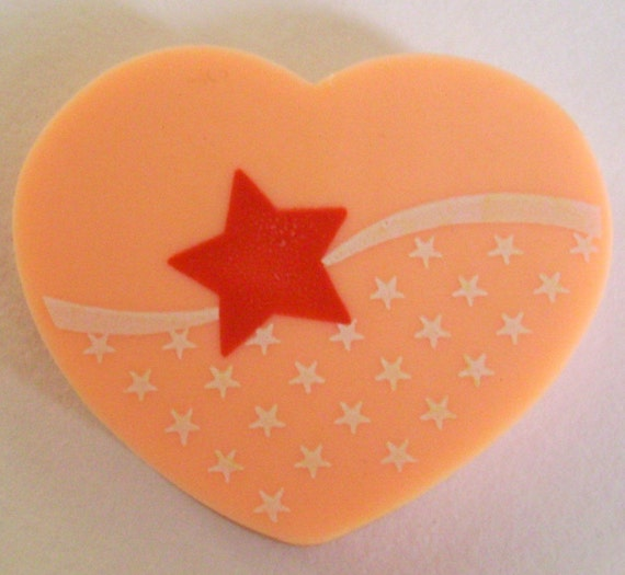 Heart Red Star Eraser 80s Kawaii Stationery Drawing Writing Supplies
