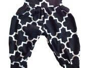 Black and White Baby Toddler Harem Pants