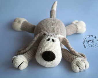 Dog - pdf knitting pattern. Knitted in the round.