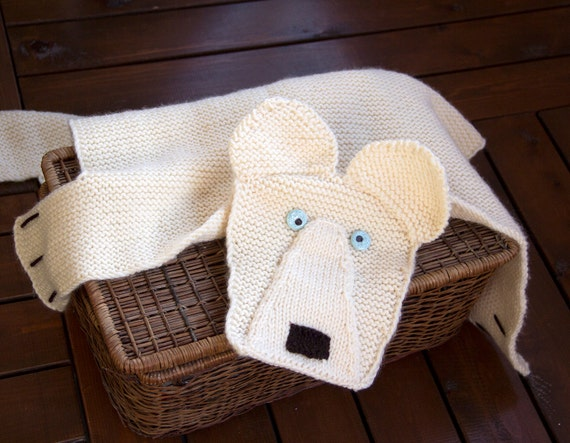 Polar Bear Rug Knitting Pattern : Polar bear rug number baby blanket mat knitting