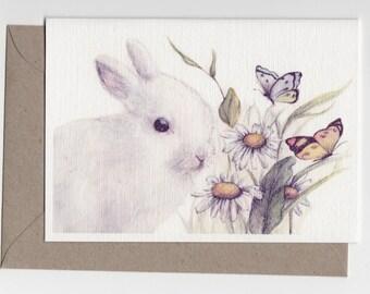 Bunny- Greeting Card