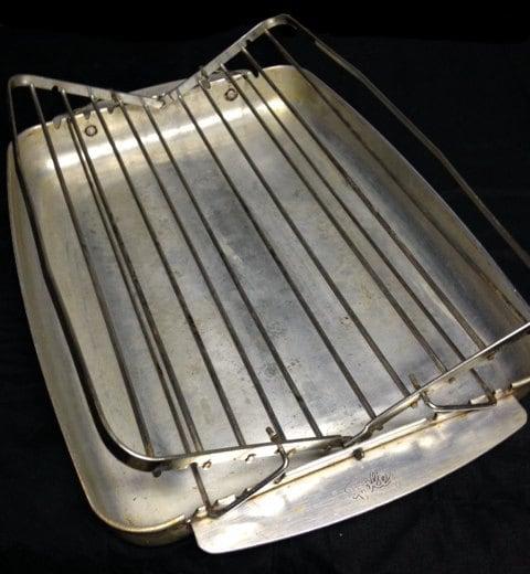 Foley Roast R Broil Roasting Pan Adjustable Rack Aluminum
