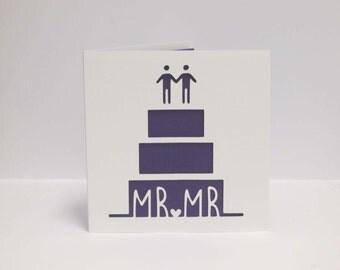 Wedding cake papercut card