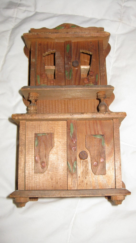 Wooden doll hutch canadian furniture vintage antique canadian Wooden furniture canada