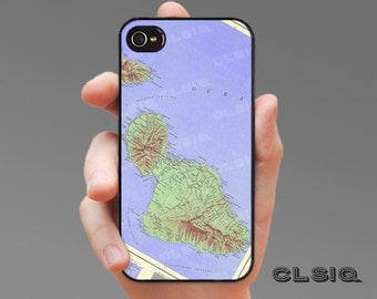 Vintage Maui, Hawaii Map iPhone Case for iPhone 6, iPhone 5/5s, or iPhone 4/4s, Samsung Galaxy S6, Galaxy S5, Galaxy S4, Galaxy S3