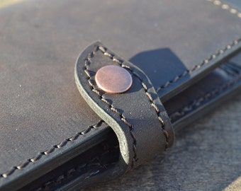 Leather Wallet- Wallet-Leather Card Holder Leather-Handmade
