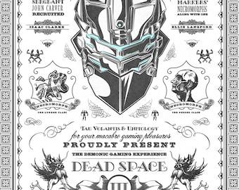 Dead Space 3 Game Vintage Geek Art - signed museum quality giclée fine art print