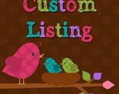 Custom Listing for Judy