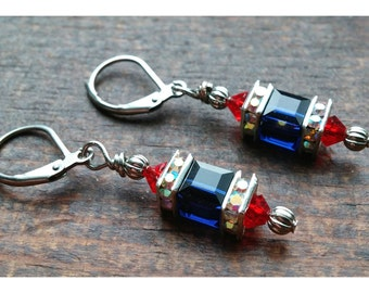 Inspired by the New England Patriots Earrings