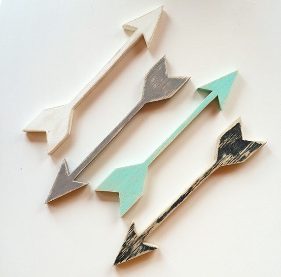Wall Decor Wooden Arrows : Wooden arrow wall art gallery nursery decor
