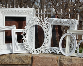 Custom Frames Picture Frames Set Of 10 Shabby Chic Frames Made To Order Frames