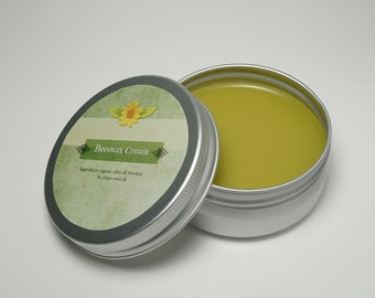 Beeswax Cream with St John's Wort Oil / Handmade Beeswax Cream 1.7 oz (50g)