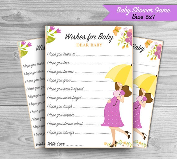 baby shower wishes for baby advice cards printable baby shower games