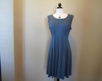 Teal Blue Knit Career Dress