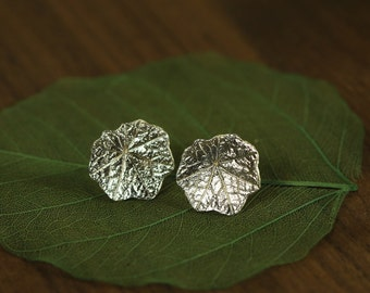 Sterling Silver Nasturtium Earrings on Sterling Silver posts