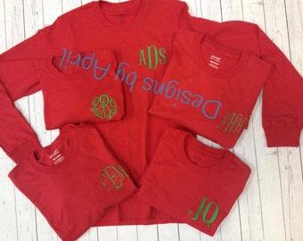 Ladies Monogrammed T-Shirt - LONGSLEEVE  - Small - XL