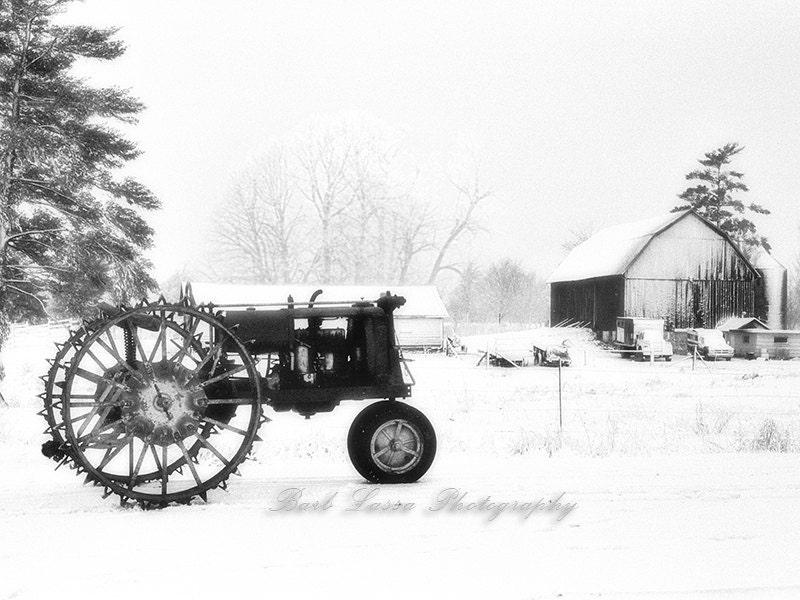Farmall Steel Wheels : Farmall f tractor steel wheel farm winter vintage
