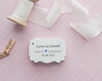 Gift Tags-Wedding Favors-Bridal Shower favors-Candy Bar Tags-Wedding Thank you Tags-Love is Sweet Tags-Set of 40