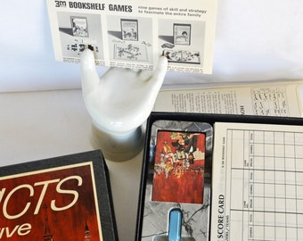 Vintage 1967 3M Facts In Five Game--1960s--Art Supplies--Retro Collectable--Vintage Board Game--Art Supply--Collectables--Vintage Ephemera