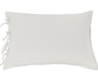 Linen pillow case - white pillowcase - linen shams - white pillow cover - standard pillowcase - linen pillow cover - organic pillow case