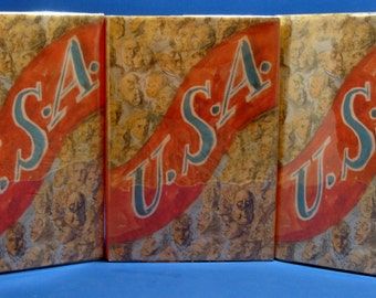Vintage The USA Trilogy By John Dos Passos 1946 Hardcover Set The 42nd Parallel, 1919, & The Big Money