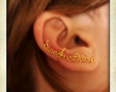 Sweet nothings, wire ear cuff, ear cuff, word ear cuff, no piercing, sweet nothings ear cuff