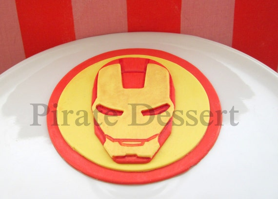 iron man cake toppers decoration