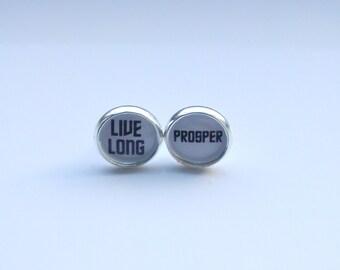 Live Long and Prosper Stud Earrings