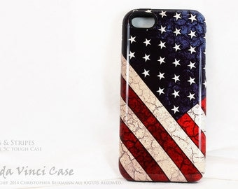 American Flag iPhone 5c Case - Stars & Stripes - Artistic iPhone 5c Cover - Dual Layer Protection Apple iPhone 5c case