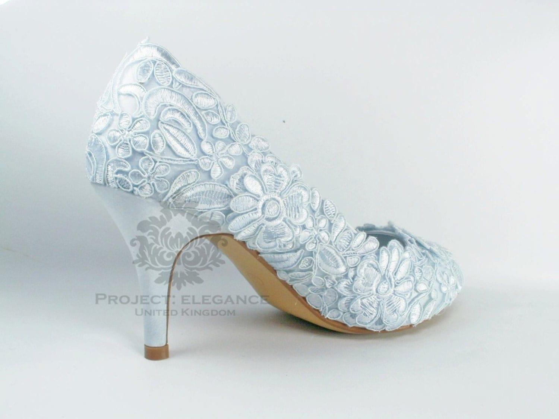 Vivienne - Powder Blue / Ivory / White Any colour Lace Vintage