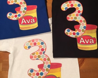 Adult Play-Doh Shirt / Birthday / Theme