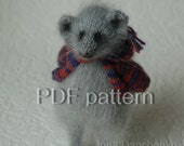 Mouse Toy Knitting Pattern PDF, Knitted Toys, Stuffed Animal Stuffed toy, Hand Knit Toy knitting pattern for a  mouse with a knitted jacket