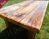 Custom listing for Julie V. Rustic Coffee vanity - Reclaimed Wood Table