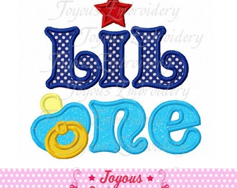 Instant Download Little One With pacifier Applique Machine Embroidery Design NO:1689