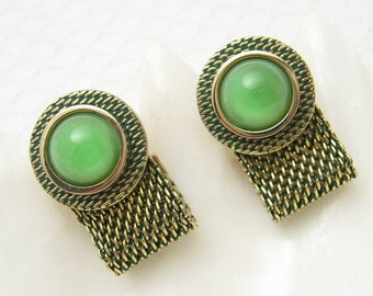 Vintage Cufflinks Tie Tack Set Mesh Wraparound Jewelry H672