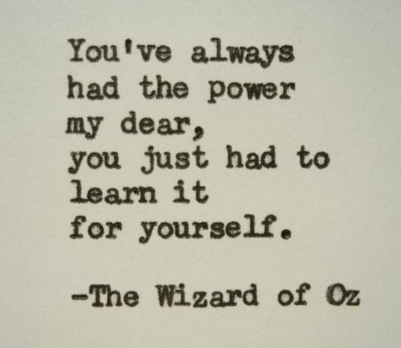 Quote Wizard Items Similar To Wizard Of Oz Quote Typewriter Quote You Always .