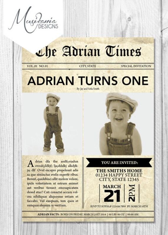 Vintage Newspaper Boy Newspaper Boy Birthday