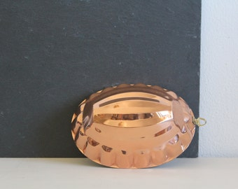 SALE 50 OFF Vintage Copper Mold Jello Mould Scalloped Rustic Kitchen Home Decor Wall Hanging