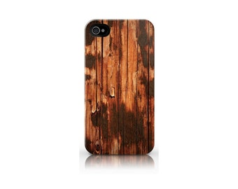 Old Brown Wood Design iPhone 4 and iPhone 4s case cover