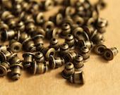 100 pc. Antique Bronze Plated Bullet Earnuts, Nickel Free | FI-159