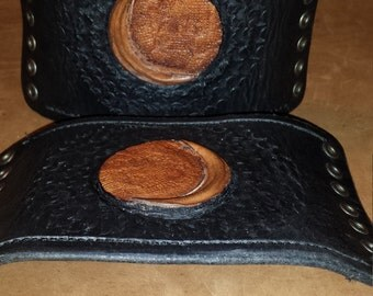 Lace up Moon Cuffs, Pair