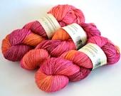 Hand dyed yarn pick your base - Masala- sw merino cashmere nylon fingering dk worsted