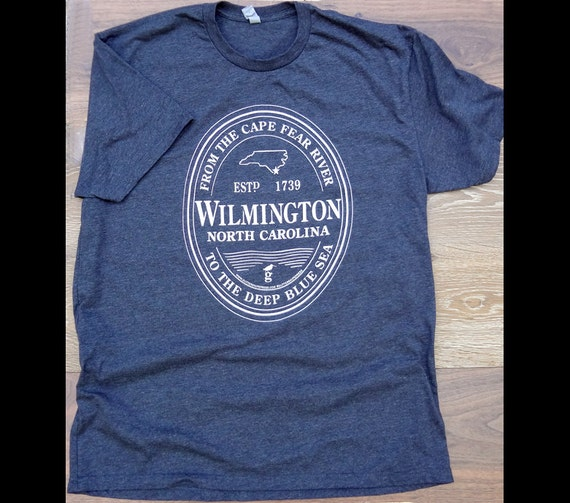 wilmington nc stout logo charcoal grey tshirt by