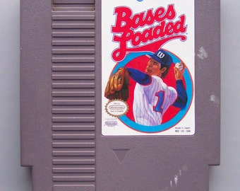 Vintage 1988 Nintendo Bases Loaded Video Game in Working Condition