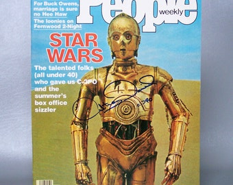 Vintage 1977 People Magazine C-3PO Signed by Anthony Daniels Himself