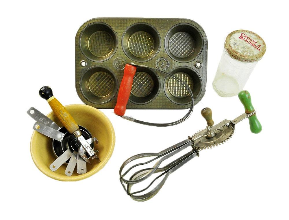 Vintage Kitchen Tools Collection 5 Yellowware Bowl